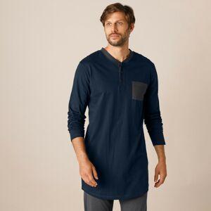 Blancheporte Pyžamové tričko s tuniským výstřihem, námořnicky modré námořnická modrá 117/126 (XXL)