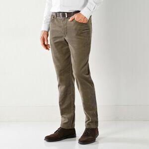 Blancheporte Manšestrové kalhoty, 5 kapes hnědošedá 48