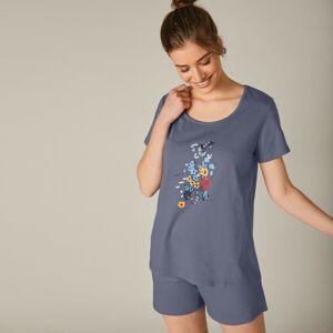 Blancheporte Pyžamo s potiskem květin, se šortkami břidlicová 52