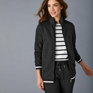 Blancheporte Meltonová bunda na zip se stojáčkem černá 34/36