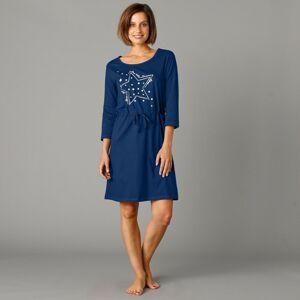 Blancheporte Noční košile s potiskem hvězd námořnická modrá 52