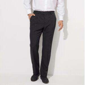 Blancheporte Kalhoty s vysokým pasem, bez záševků, polyvlna antracitová 60