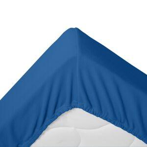 Blancheporte Napínací fleecové prostěradlo, 350g/m2 modrá džínová 160x200cm