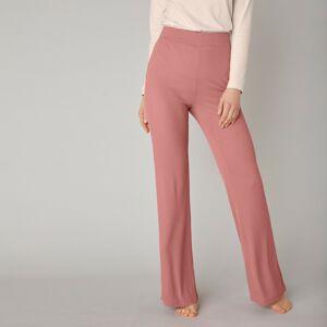 Blancheporte Široké žebrované kalhoty s pružným pasem terakota 50