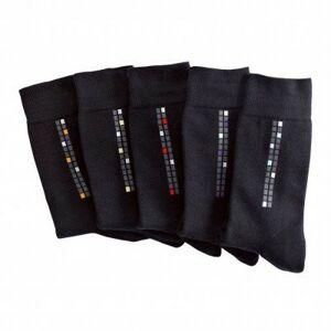 Blancheporte Ponožky s motivem kostky, sada 5 párů vícebarevná 39/42