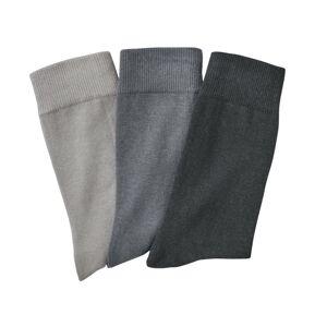 Blancheporte Klasické ponožky, 3 páry šedá 47/50