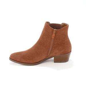 Blancheporte Kotníkové boty na podpatku, western styl, karamelové karamelová 39
