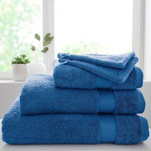 Blancheporte Měkká froté sada, bavlna a modal 500g/m2, zn. Colombine nám.modrá 2x žínka 15x21cm