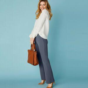 Blancheporte Bootcut strečové kalhoty pro vysokou postavu tmavě šedá 50