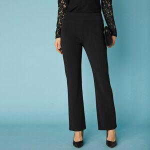 Blancheporte Bootcut strečové kalhoty pro malou postavu černá 42/44