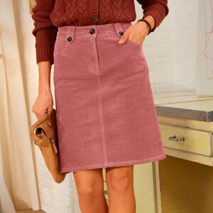 Blancheporte Manšestrová krátká sukně šedorůžová 38