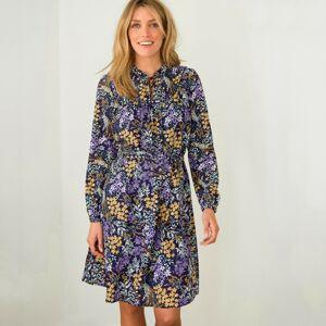 Blancheporte Propínací šaty s potiskem květin fialová/lila 48