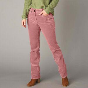 Blancheporte Rovné manšestrové kalhoty šedorůžová 38