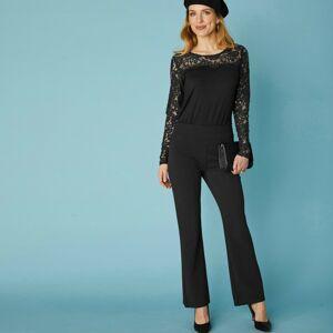 Blancheporte Bootcut strečové kalhoty pro vysokou postavu černá 50