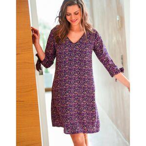 Blancheporte Rozšířené šaty s potiskem purpurová 46