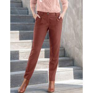 Blancheporte Chino jednobarevné kalhoty karamelová 42
