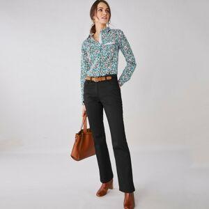 Blancheporte Bootcut kalhoty s 5 kapsami černá 40