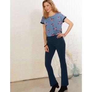 Blancheporte Bootcut strečové kalhoty pro malou postavu nám.modrá 50