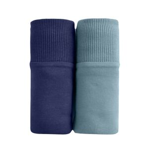 Blancheporte Sada 2 kalhotek maxi z bavlny nám.modrá+šedý melír 50/52