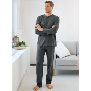 Blancheporte Pyžamo s tuniským výstřihem, jednobarevné antracitová 107/116 (XL)