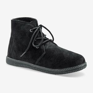 Blancheporte Kotníkové boty na zavázání černá 41