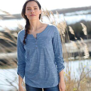 Blancheporte Tuniské tričko se žíhaným potiskem modrý melír 42/44