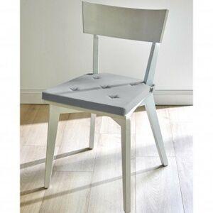 Blancheporte Sada 2 jednobarevných čtvercových podsedáků na židli hnědošedá 40x40 cm