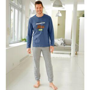 """Blancheporte Pyžamo s kalhotami a dlouhými rukávy, s potiskem """"Hibernation"""" modrá 107/116 (XL)"""