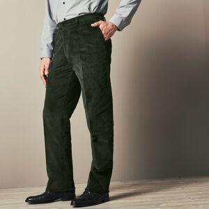 Blancheporte Manšestrové kalhoty s pružným pasem zelená 54