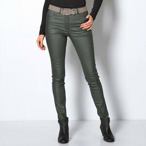 Blancheporte Koženkové kalhoty v úzkém střihu bronzová 46