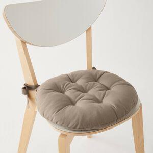 Blancheporte Sada 2 jednobarevných kulatých podsedáků na židli hnědošedá pr. 40cm