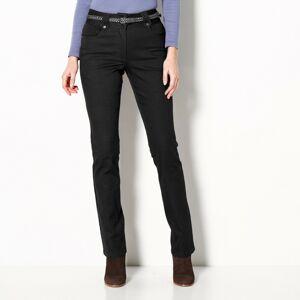 Blancheporte Rovné kalhoty s vysokým pasem, malá postava černá 40