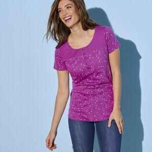 Blancheporte Tuniské tričko s potiskem růžová pudrová 42/44