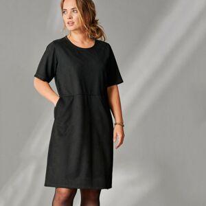 Blancheporte Krátké šaty s krátkými rukávy černá 56