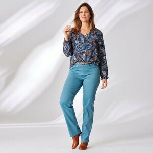 Blancheporte Jednobarevné kalhoty s efektem plochého bříška modrošedá 46