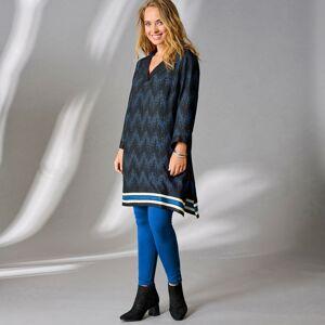 """Blancheporte Dlouhá tunika s výstřihem do """"V"""" a se 3/4 rukávy černá/tmavě modrá 48"""