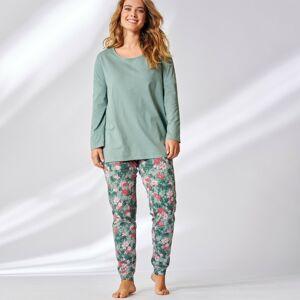 Blancheporte Pyžamo s potiskem květin a batikou zelenkavá 58