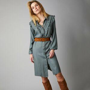 Blancheporte Košilové šaty s volány khaki 38