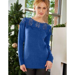 Blancheporte Macramé pulovr královská modrá 34/36