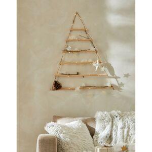 Blancheporte Nástěnný svítící stromeček ze dřeva a provázků kaštanová