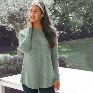 Blancheporte Rozšířený pulovr z anglického úpletu světlá khaki 50