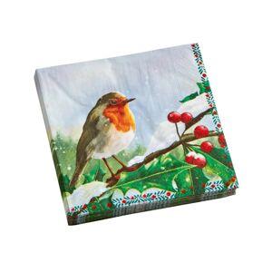 Blancheporte Papírové ubrousky s potiskem ptáčků, sada 20 ks ptáček 20 ks