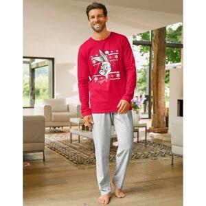 Blancheporte Pyžamo s kalhotami a dlouhými rukávy BUNNY X MAS červená/šedá 107/116(XL)