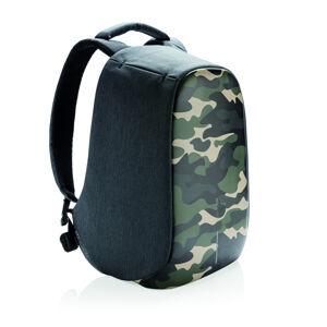 """Městský bezpečnostní batoh, Bobby Compact Print, 14"""", XD Design, camouflage green"""